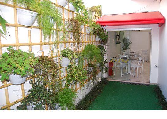 Uma área verde para trazer a natureza